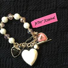 Large Betsey Johnson Heart Bracelet
