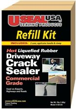 New listing Driveway Crack Sealer Refill Kit Use Highways 2 Cans Applicator Handle Clamp 7lb
