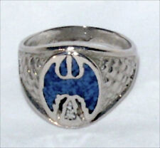 Eagle Ring, Nickel Ring, Blue Lapis Thunderbird Ring, Size 12