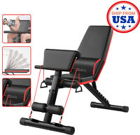 Adjustable Fitness Weight Bench For Full Body Training Home Gym Workout Chair