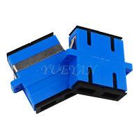 10pcs SC SM Duplex Ear Welding Adapter Fiber Optic Connector Singlemode Coupler