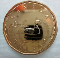 1867-1992 CANADA LOONIE 125th CONFEDERATION ANNIVERSARY PROOF-LIKE COIN