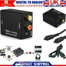 Digital Optical Coaxial Toslink To Analog RCA L/R Audio Adapter Converter + USB