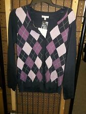 Croft & Barrow - Teen - Sweater - Purple/Pink - Size Medium (Ac-17-277)