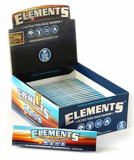 1/2 box x ELEMENTS King Size Ultra thin Rolling paper - 25 booklets = 800 papers