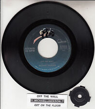 "MICHAEL JACKSON  Off The Wall  7"" 45 rpm vinyl record + juke box title strip"