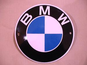 PLAQUE EMAILLEE BOMBEE BMW LOGO MOTO AUTO enamel tin sign