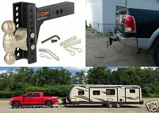 CURT 45900 Channel-Style Adjuastable Dual Ball Mount Trailer Hitch New Free Ship
