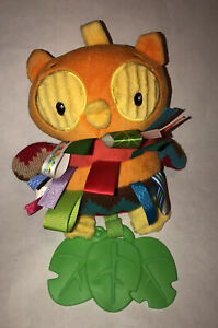 """Taggies 10"""" Plush WHOO LOVES YOU Teether/Rattle Soft Baby Toy Multi-Color"""