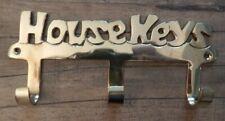 Brass key hooks HOUSE KEYS 3 hooks hanger