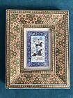 Vintage Indo-Persian Miniature Painting, Hunting Scene, Elaborate inlaid Fram
