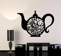 Vinyl Wall Decal Kettle Teapot Tea Kitchen Decor Dishes Stickers (905ig)