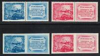 Romania 1949 MNH Mi 1193-1194A+B Sc 710-711 Perf & Imperf.Transportation Unions
