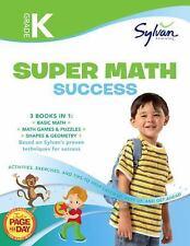 Sylvan Super Workbook: Kindergarten Super Math Success NEW Paperback