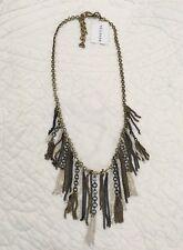 New Silpada Multi-colored Chain Fringe Tassel Necklace