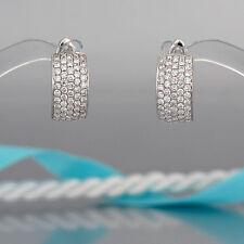 Ohrringe-Creolen - Halbcreolen mit 126 Brillanten (Diamant) ges. 1,15ct- NEU!