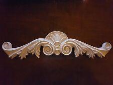 Long ornate plaster pediment embellishment decor moulding wall plaque decal new