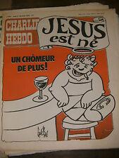 Charlie Hebdo N°423 21/12/1978 Caricature Cavanna Wolinsky Cabu Charb Jésus