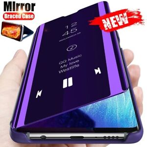 For Xiaomi Poco X3 NFC X3 Pro Smart View Mirror Leather Flip Stand Case Cover