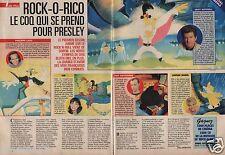Coupure de presse Clipping 1992 Rock-O-Rico coq se prend pour Presley  (2 pages)