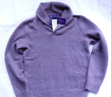 RALPH LAUREN Purple Label 85% cashmere-Mohair Châle Sweater T L VIOLET