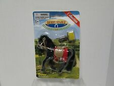 DERBY STABLE Horse Collection Black Horse with brush and saddle by Boley