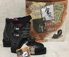 NEW Andrew Telemark Ski Boots Women's US 6 / UK 5 / EU 38 NICE Leather Italy NOS