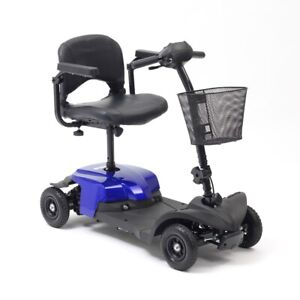 Livewell Jaunt Lite Mobility Scooter Car Boot Shoprider 4 Wheels 4mph Blue