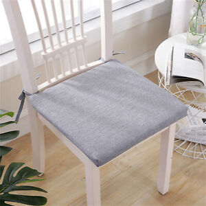 Linen Chair Pads,With ties Chair,Removable Cleans Easily,Home Decoration 40*40CM