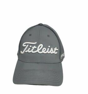 Titleist FootJoy Pro V1 FJ Golf Snapback Meshback Hat Cap Gray L/XL