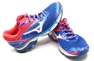 Mizuno Women's Wave Inspire 13 410877 4V13 Blue Pink Running Shoes Size 8