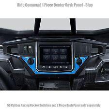 1 Piece Bottom Center RZR XP1000 Ride Command Dash Panel Blue Powdercoated UTV