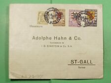 Dr Who 1941 Belgium Brussels To Switzerland Wwii Censored f79377