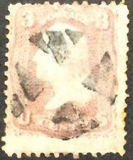 1861 3c Washington Rose, regular issue, Scott #64b, Used, VG