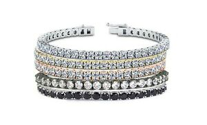 Women's 18k White Gold Plated Tennis Bracelet Made With Swarovski Elements