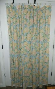 Croscill Shower Curtain Floral Pastel Cottagecore  50/50 Cotton Poly 72 L  88 W
