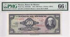 1973 Mexico 500 Pesos P-51q PMG 66 EPQ Gem UNC