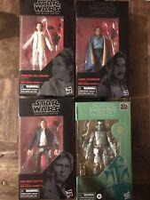 Star Wars Black Series Boba Fett Carbonized, Han Solo, Bespin Leia, Lando lot
