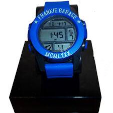 Reloj FRANKIE GARAJE negro y azul cámara de vídeo digital con correa de caucho