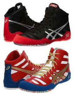 New Men's Asics JB Elite Wrestling Shoes Size 9.5-14 Black/Red or Red/Gold J3A1Y