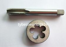 New1pc HSS 7/8-9 Plug Left Tap and 1pc 7/8-9 Left Die Threading Tool