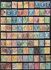 FRANCE Classiques - Cérès Napoléon Sage - Lot de 81 timbres - Cote énorme