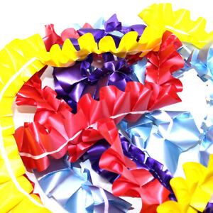 10 METRE EASY PLEAT RIBBON - 8 COLOURS TO CHOOSE FROM WATERPROOF PLEATED RIBBONS