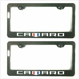 Carbon Fiber Camaro License Plate Tag Frame Cover Decorate Gift for Chevy Camaro