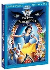 BLANCHE NEIGE ET LES 7 NAINS DISNEY COMBO  BLU RAY + DVD NEUF SOUS CELLOPHANE