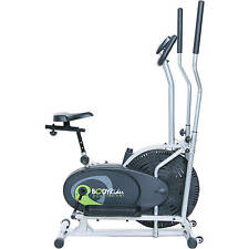 Dual Cardio Trainer Exercise Home Gym Workout Cycling Stationary Fitness Bike