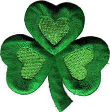 "SHAMROCK, CLOVER, GREEN SHADES (2 3/4"")-Iron On Patch/St. Patricks, Irish"