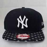 New York YANKEES New Era SNAPBACK Baseball Hat, Navy Blue, Starry