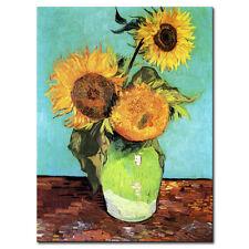 Van Gogh Floral Wall Art Large Sunflower Vase Canvas Print Art Home Decor 1 Pcs