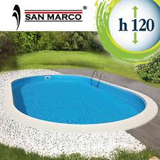 Piscina interrata fuori terra San Marco 490x300x120 cm con filtro a sabbia